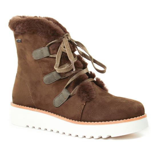 Bottines Et Boots Mtng 58556 Kaki, vue principale de la chaussure femme