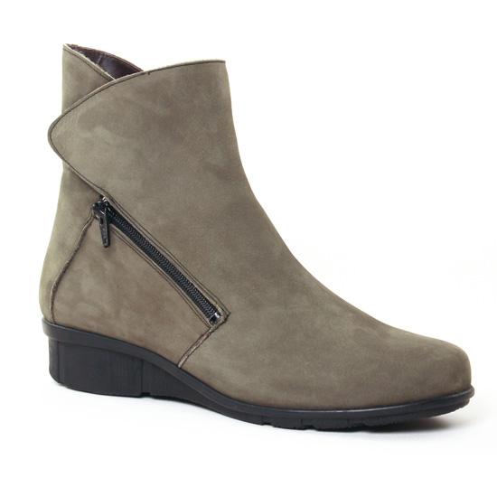 Bottines Et Boots On Zen 17121 Kaki, vue principale de la chaussure femme