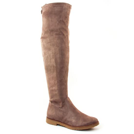 Bottes Marco Tozzi 25645 Taupe, vue principale de la chaussure femme