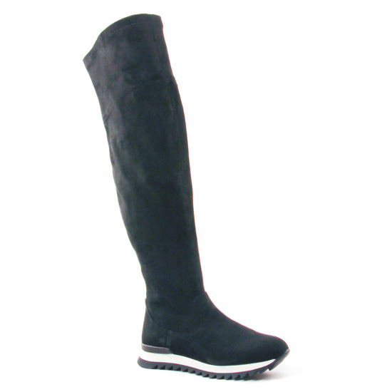 Bottes Buffalo B351C-211 Suede Black, vue principale de la chaussure femme