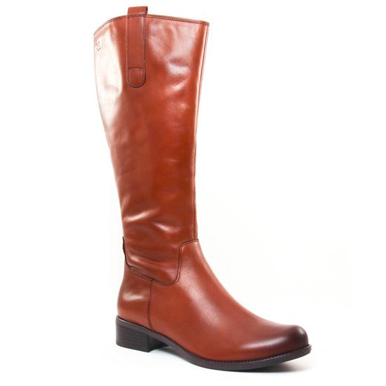 Bottes Caprice 25509 Cognac Nappa, vue principale de la chaussure femme