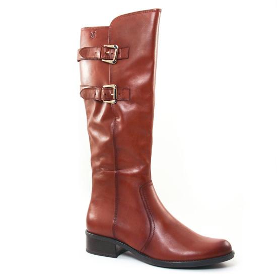 Bottes Caprice 25533 Cognac, vue principale de la chaussure femme