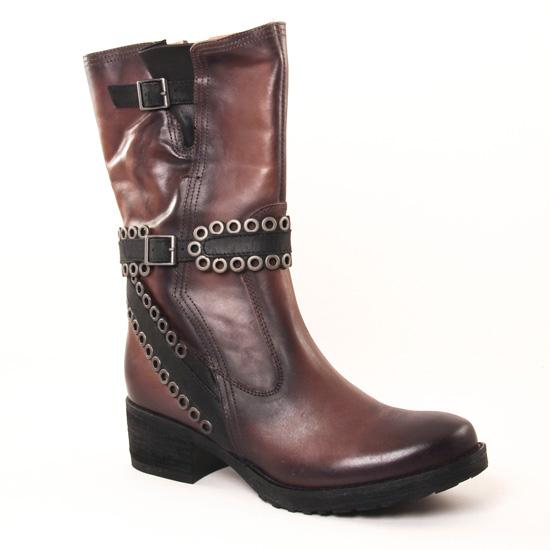 Bottes Mamzelle Douba Taupe Scott Noir, vue principale de la chaussure femme