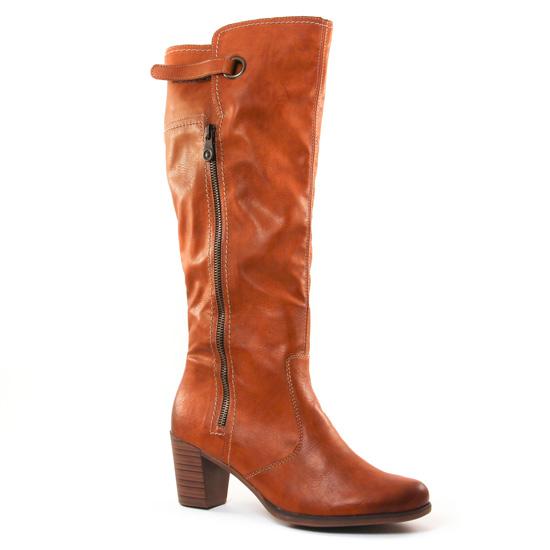 Bottes Rieker Y8980 Camel, vue principale de la chaussure femme