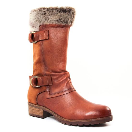 Bottes Tamaris 25062 Cognac, vue principale de la chaussure femme