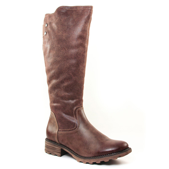 Bottes Tamaris 26605 Cigare Taupe, vue principale de la chaussure femme