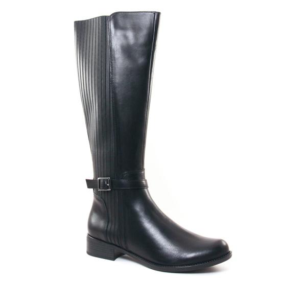 Bottes Caprice 25505 Black Nappa, vue principale de la chaussure femme