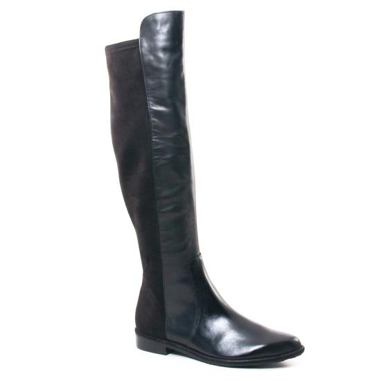 Bottes Fugitive Barca Noir   Velour Noir, vue principale de la chaussure femme