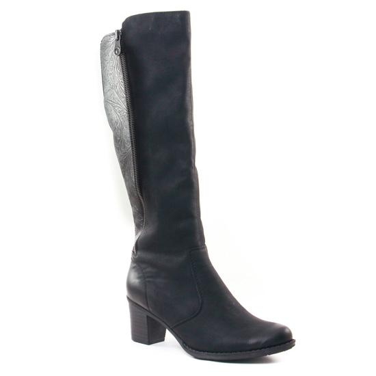 Bottes Rieker Z7662 Noir, vue principale de la chaussure femme