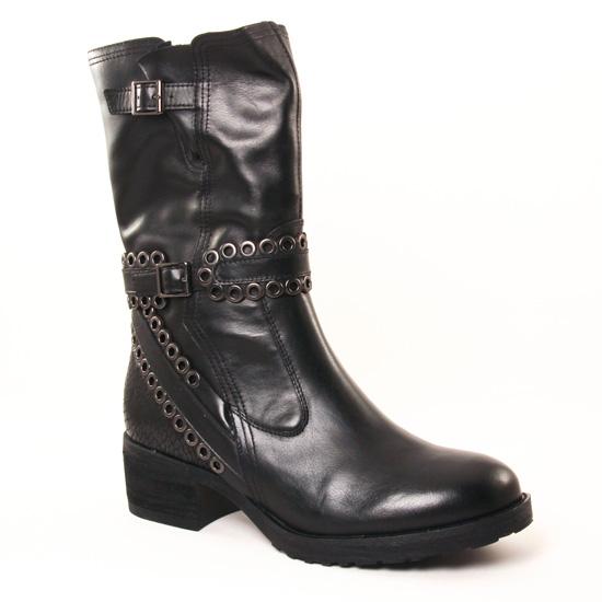 Bottes Mamzelle Douba Noir Python Noir, vue principale de la chaussure femme