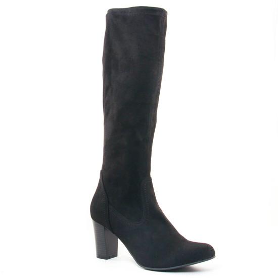 Bottes Caprice 25503 Black Stretch, vue principale de la chaussure femme
