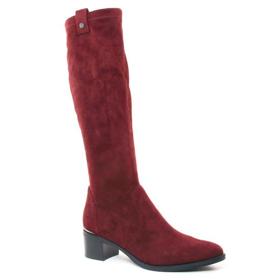 Bottes Jb Martin Encre Prune, vue principale de la chaussure femme