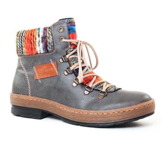 Bottines Et Boots Rieker Z6743 Gris Bleu, vue principale de la chaussure femme