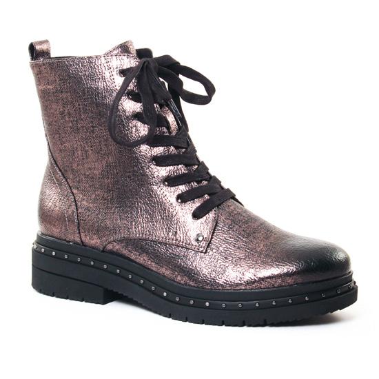 287be0bcf79668 Bottines Et Boots Tamaris 25131 Platinium - Pub TV, vue principale de la  chaussure femme