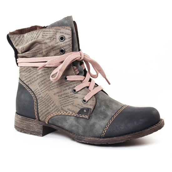 Bottines Et Boots Rieker 70822 Gris, vue principale de la chaussure femme 6a79cf725412