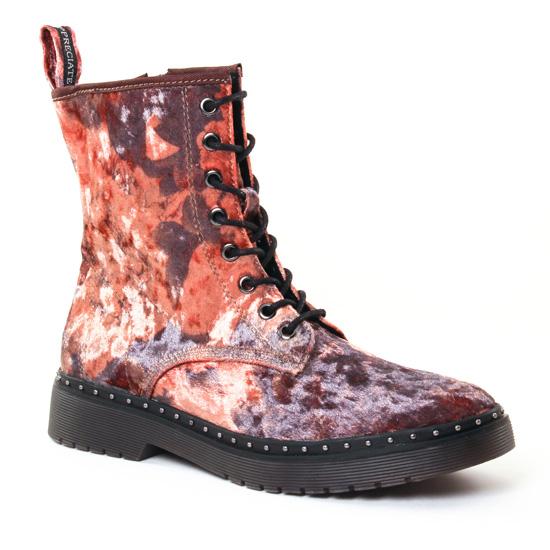 Bottines Et Boots Tamaris 25718 Flower Velvet, vue principale de la chaussure femme
