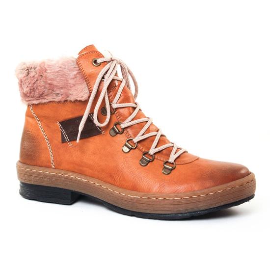 Bottines Et Boots Rieker Z6743 Marron, vue principale de la chaussure femme