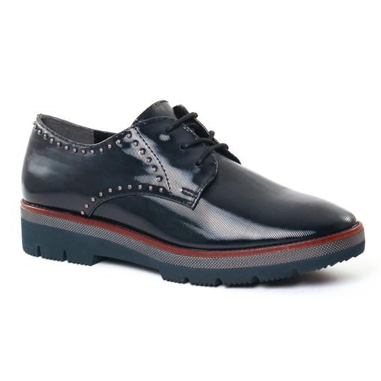 Chaussures À Lacets Marco Tozzi 23702 Navy, vue principale de la chaussure femme