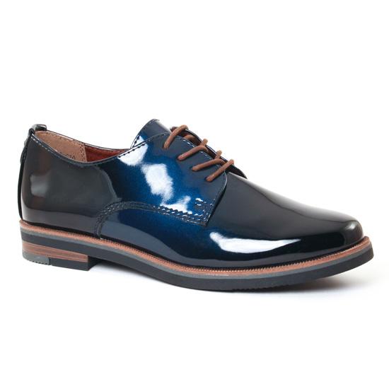 Chaussures À Lacets Marco Tozzi 23200 Navy, vue principale de la chaussure femme