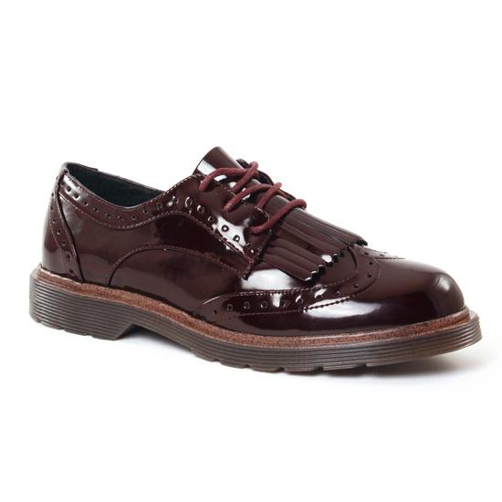 Chaussures À Lacets Coolway Praga Burgendy, vue principale de la chaussure femme