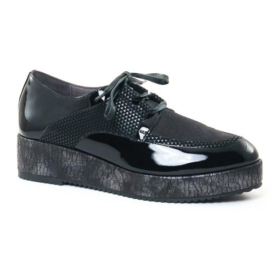 Chaussures À Lacets Mamzelle Rosita Compo Holo Noir, vue principale de la chaussure femme