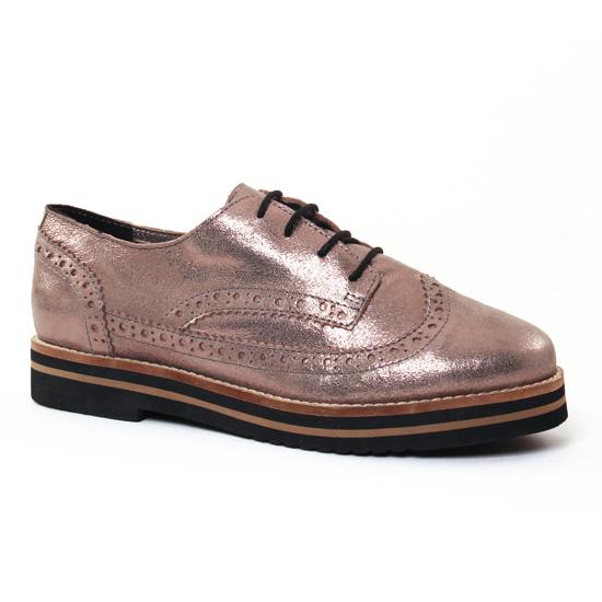 Chaussures À Lacets Coolway Avo Argent, vue principale de la chaussure femme