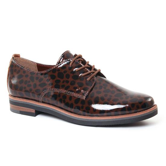 Chaussures À Lacets Marco Tozzi 23203 Mocca, vue principale de la chaussure femme