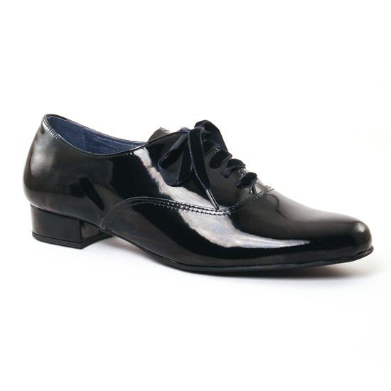 Chaussures À Lacets Pintodiblu V3701 Vernis Noir, vue principale de la chaussure femme