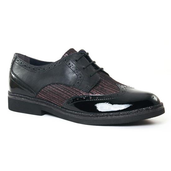 Chaussures À Lacets Tamaris 23711 Black Pewter, vue principale de la chaussure femme