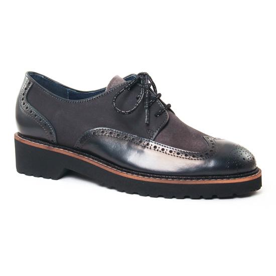 Chaussures À Lacets Pintodiblu 20431 Noir, vue principale de la chaussure femme