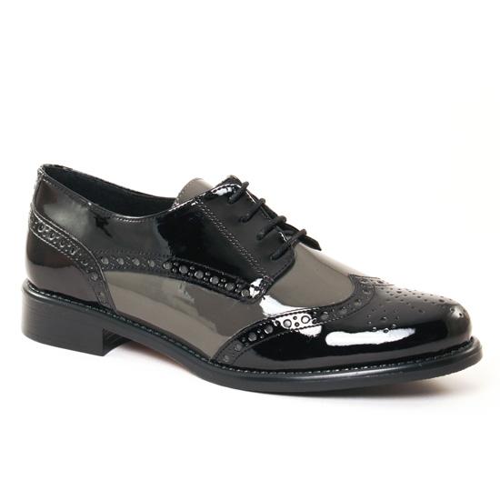 Chaussures À Lacets Scarlatine 22003 H Noir Chair, vue principale de la chaussure femme