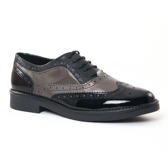 Chaussures À Lacets Scarlatine 6370 Noir, vue principale de la chaussure femme