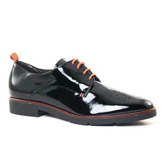 Chaussures À Lacets Jb Martin 1Fil Vernis Noir, vue principale de la chaussure femme