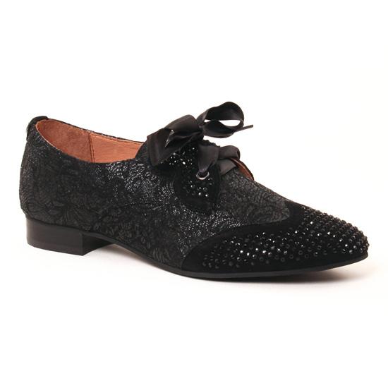 Chaussures À Lacets Mamzelle Zabou Compo Fleur Noir, vue principale de la chaussure femme