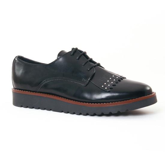 Chaussures À Lacets Scarlatine 7958 Noir, vue principale de la chaussure femme