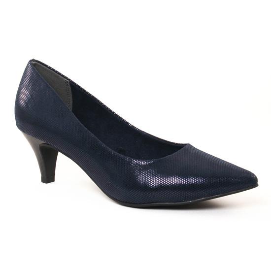 Escarpins Tamaris 22415 Night Bleu, vue principale de la chaussure femme