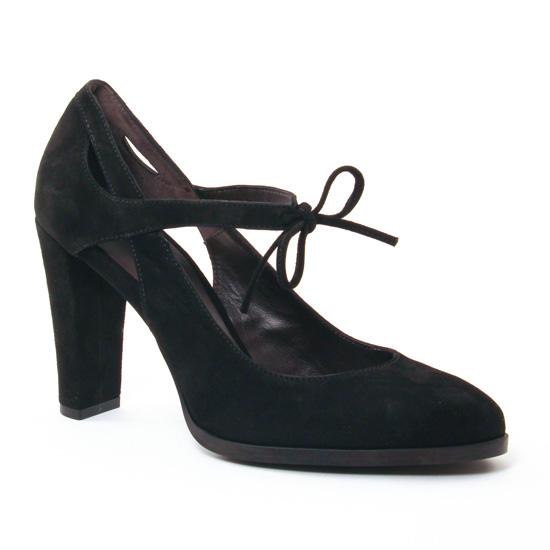 Escarpins Perlato 10162 Velours Noir, vue principale de la chaussure femme