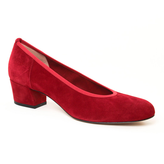 Escarpins Perlato 10366 Velours Rouge, vue principale de la chaussure femme