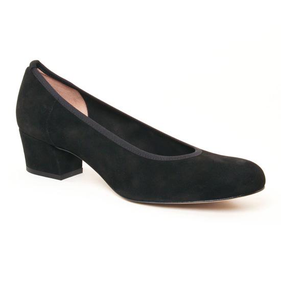 Escarpins Perlato 10366 Velours Noir, vue principale de la chaussure femme