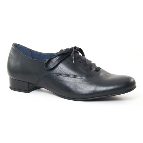 Chaussures À Lacets Pintodiblu 3701 Noir, vue principale de la chaussure femme