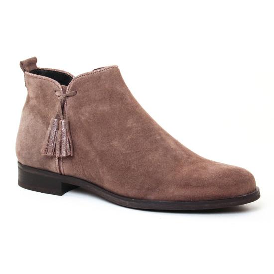 Bottines Et Boots Scarlatine 7658 Taupe, vue principale de la chaussure femme