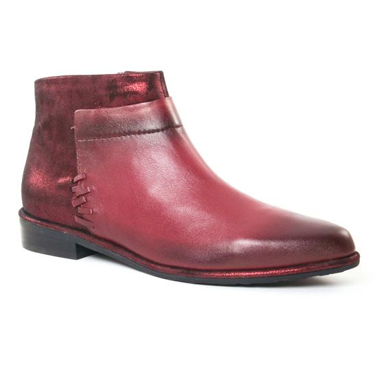 Bottines Et Boots Fugitive Baros Nappa Bordeaux, vue principale de la chaussure femme