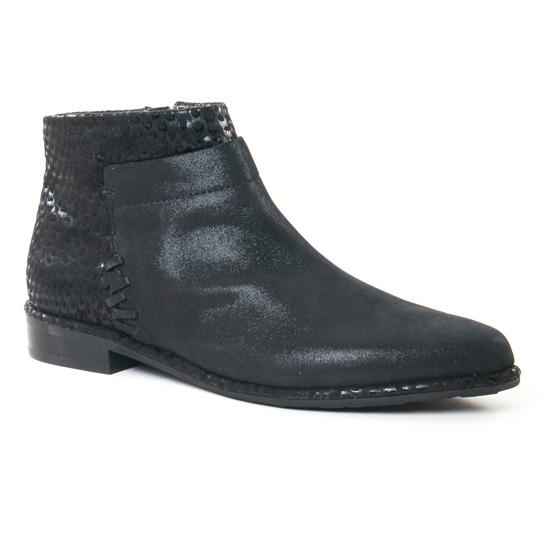 Bottines Et Boots Fugitive Baros Metal Noir, vue principale de la chaussure femme