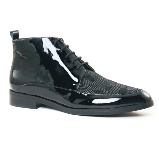 Bottines Et Boots Jb Martin Fidele V Vernis Noir, vue principale de la chaussure femme