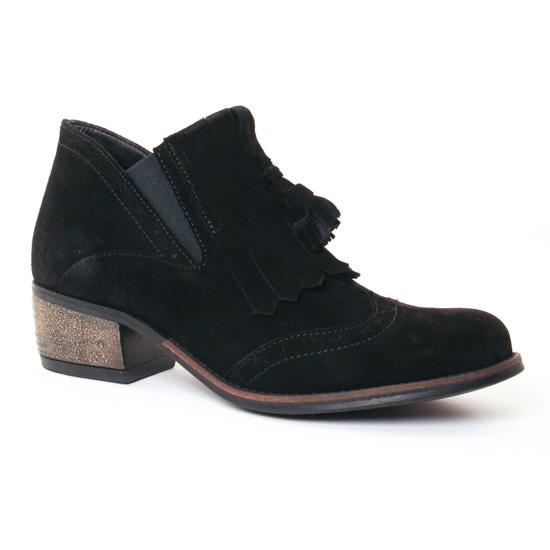 Bottines Et Boots Lassitude 6075 Preto, vue principale de la chaussure femme
