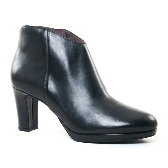 Bottines Et Boots Tamaris 25367 Black Leather, vue principale de la chaussure femme