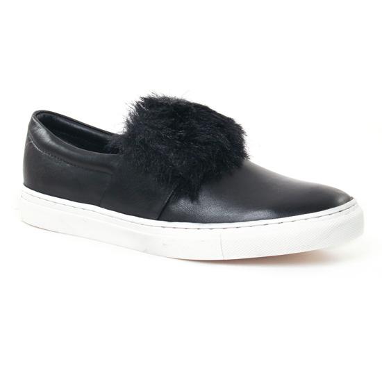 Mocassins Les Tropeziennes Leone Noir, vue principale de la chaussure femme