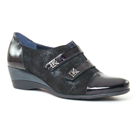Mocassins Dorking Aura 7306 Noir, vue principale de la chaussure femme