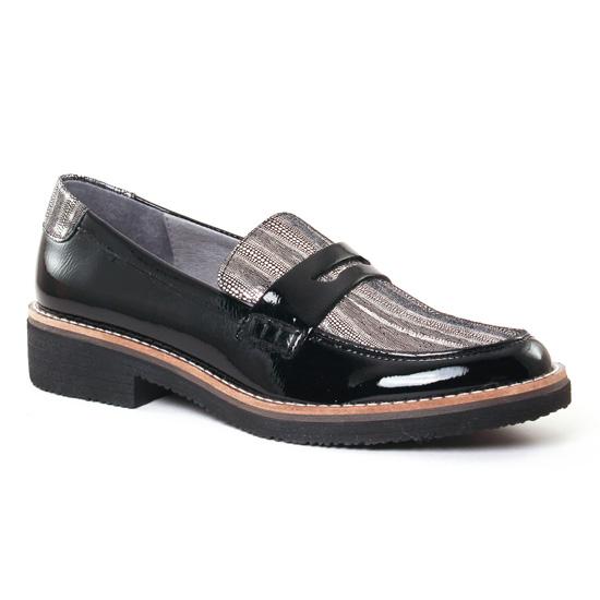 Mocassins Fugitive Gerba Vernis Noir, vue principale de la chaussure femme
