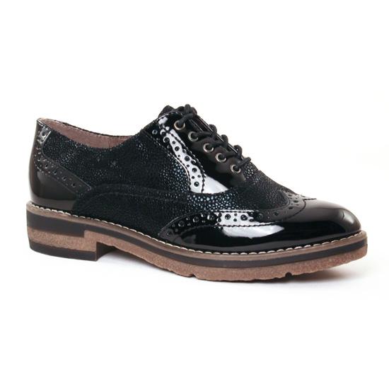 Chaussures À Lacets Tamaris 23616 Black Patent, vue principale de la chaussure femme